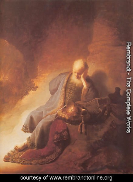 Rembrandt - Jeremiah Lamenting the Destruction of Jerusalem 1630