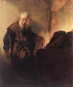 Rembrandt - St Paul at his Writing-Desk 1629-30
