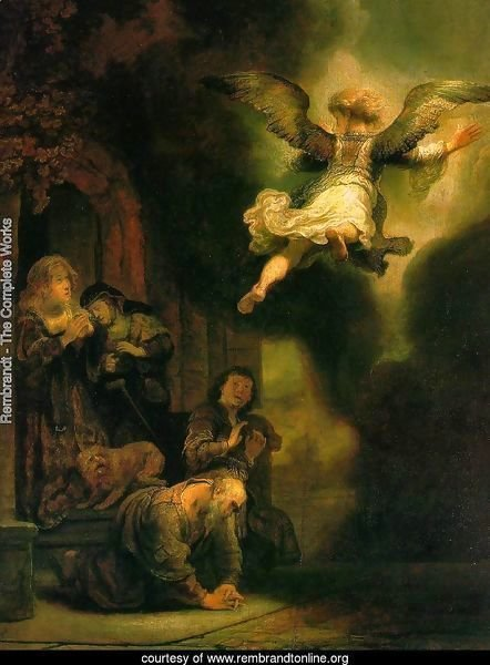 The Archangel Leaving the Family of Tobias 1637