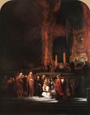 Rembrandt - Christ and the Woman Taken in Adultery 1644