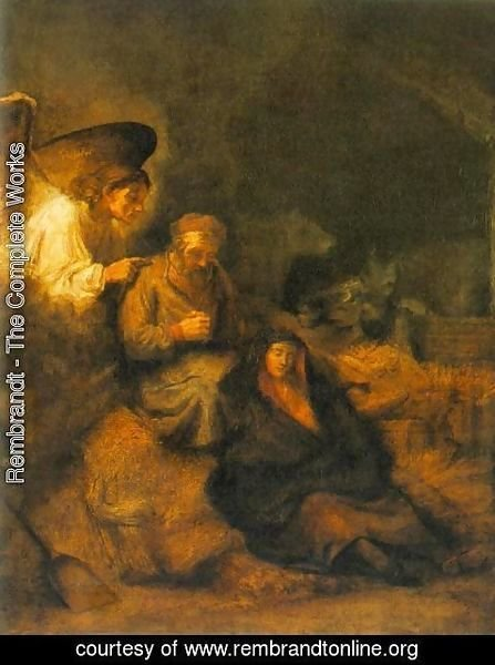 Rembrandt - The Dream of St Joseph 1650-55