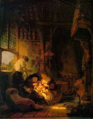Rembrandt - Holy Family 1640