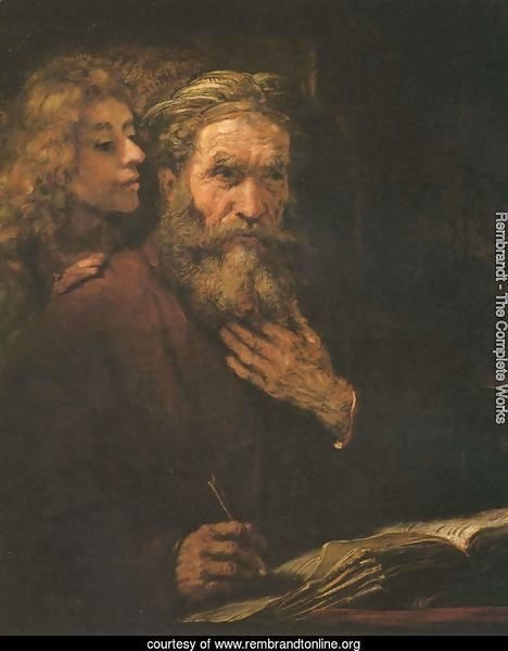 Evangelist Matthew and the Angel 1661
