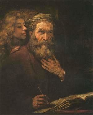 Rembrandt - Evangelist Matthew and the Angel 1661