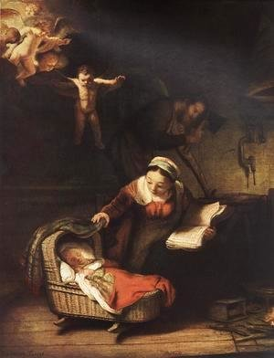Rembrandt - The Holy Family with Angels 1645