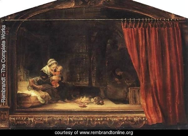 The Holy Family with a Curtain 1646