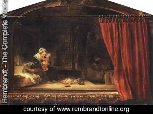 Rembrandt - The Holy Family with a Curtain 1646