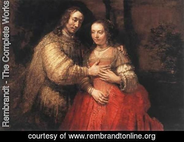 Rembrandt - The Jewish Bride c. 1665