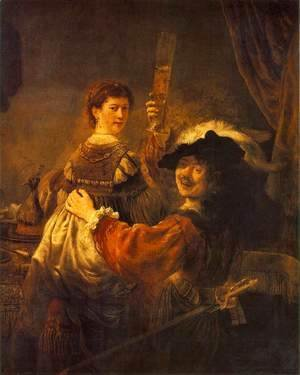 Rembrandt and Saskia in the Scene of the Prodigal Son in the Tavern c. 1635