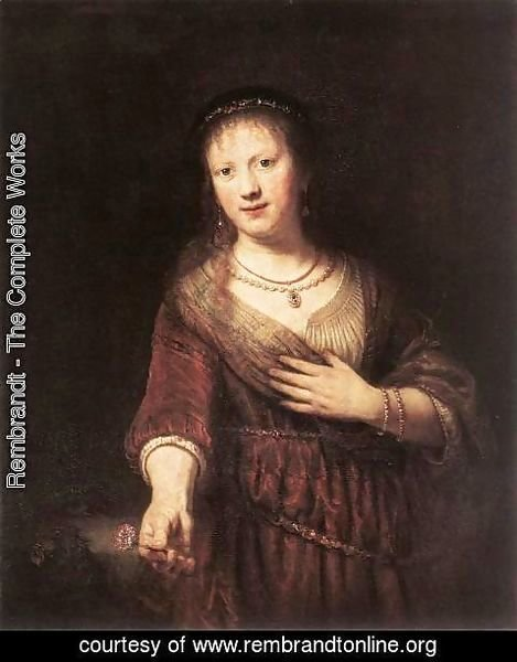 Rembrandt - Portrait of Saskia with a Flower 1641