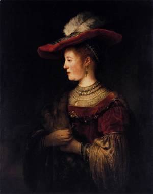 Rembrandt - Saskia in Pompous Dress c. 1642