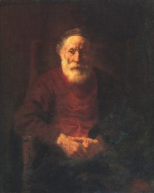 Rembrandt - Portrait of an Old Man in Red 1652-54