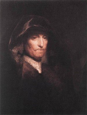 Rembrandt - An Old Woman- The Artist's Mother c. 1629