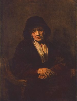 Rembrandt - Portrait of an old Woman 1654