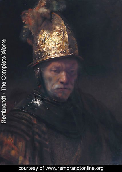 Rembrandt - Man in a Golden Helmet c. 1650