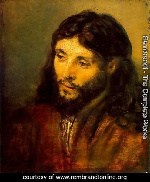 Rembrandt - Young Jew as Christ c. 1656