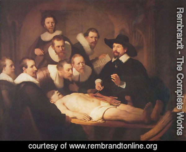 Rembrandt - The Anatomy Lecture of Dr. Nicolaes Tulp 1632