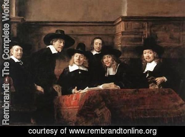 Rembrandt - Sampling Officials of the Drapers' Guild 1662