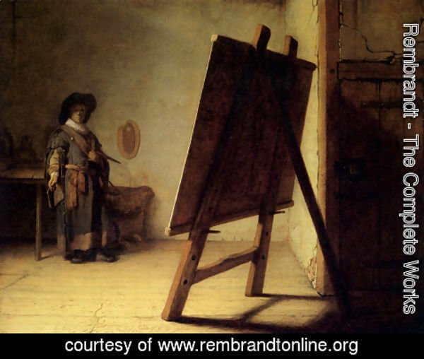 Rembrandt - The Artist in his Studio 1626-28