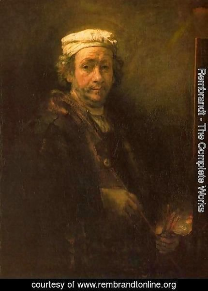 Rembrandt - Portrait of the Artist at His Easel 1660