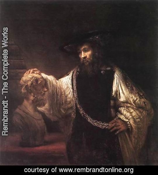 Rembrandt - Aristotle with a Bust of Homer 1653