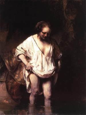 Rembrandt - Hendrickje Bathing in a River 1654