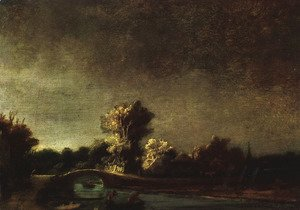 Rembrandt - Landscape with a Stone Bridge c. 1637