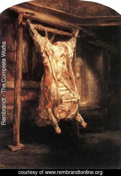 Rembrandt - The Flayed Ox 1655