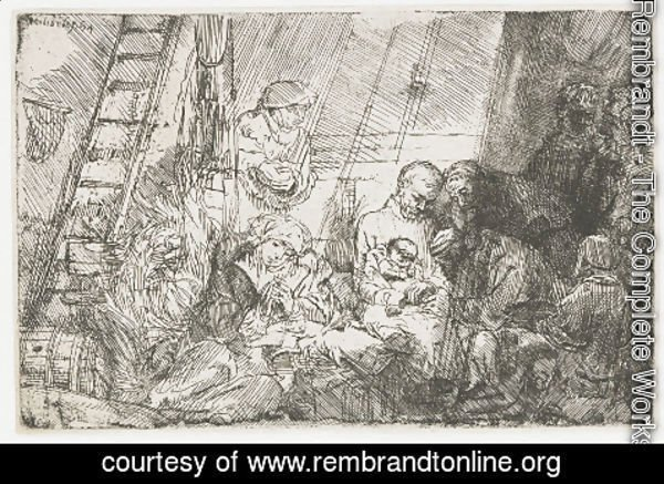 Rembrandt - The Circumscision In The Stable