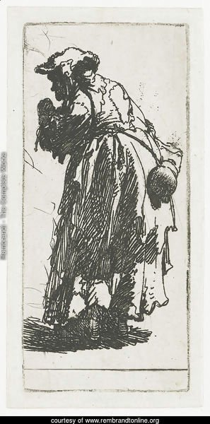 Old Beggar Woman With A Gourd 1630