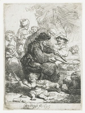 Rembrandt - The Pancake Woman 1635