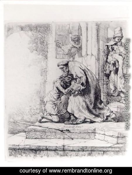 Rembrandt - The Return Of The Prodigal Son   1663