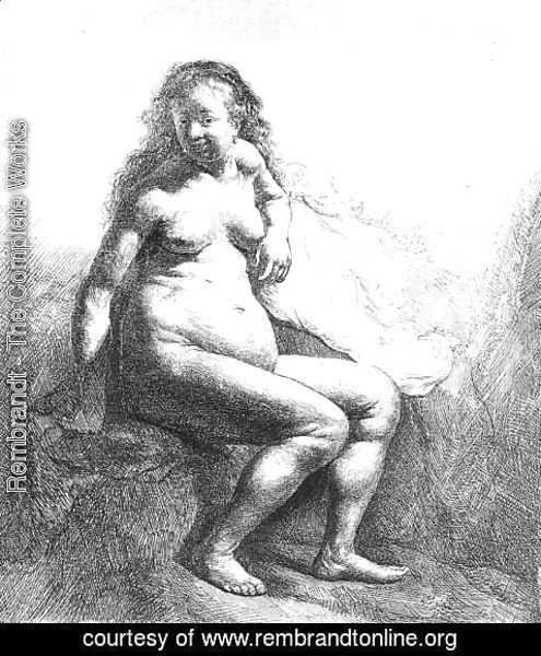 Rembrandt - Seated Female Nude 1631