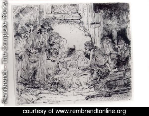 Rembrandt - The Adoration Of The Sheperds With The Lamp