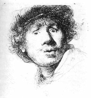 Self-Portrait, Staring 1630