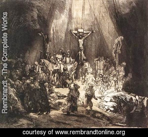 Rembrandt - The Three Crosses (second state) 1653