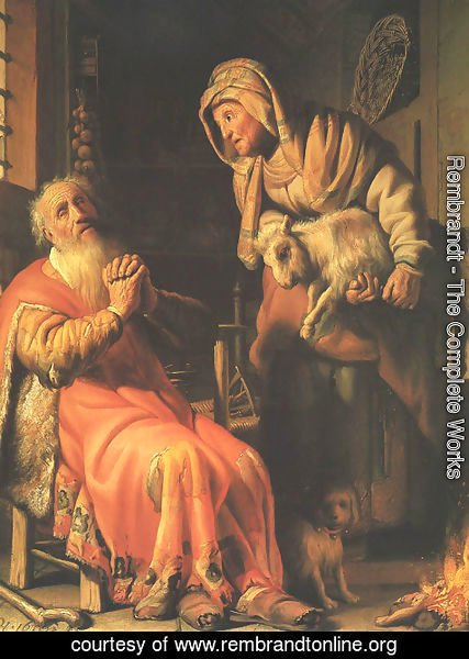 Rembrandt - Anna Accused by Tobit of Stealing the Kid