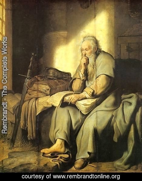 Rembrandt - Apostle Paul in Prison