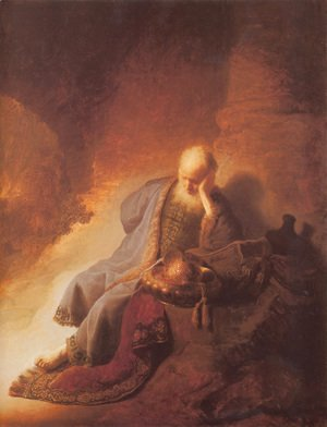 Rembrandt - Prophet Jeremiah Lamenting the Destruction of Jerusalem