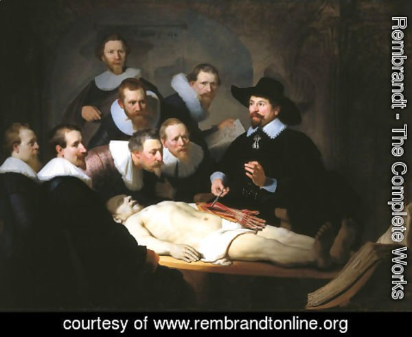Rembrandt - Anatomy Lesson of Dr Tulp